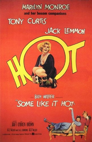 SOME LIKE IT HOT A3 FILM POSTER REPRINT STARRING MARILYN MONROE & TONY CURTIS