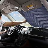 FBARTL Parabrisas del Coche Parasol, Estilo de acordeón Retractable automático Parabrisas Delantero Parasol Protector Solar Aislante Protector Solar (80cm para CAMION)
