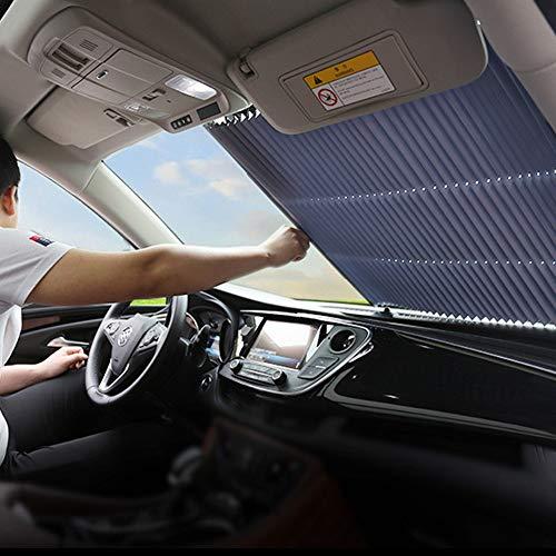 FBARTL Auto-Windschutzscheiben-Sonnenschutz, Akkordeon-Typ Automatische einziehbare Windschutzscheiben-Sonnenblende Sonnenschutzdämmungs-Sonnenschutz (80 cm LKW)