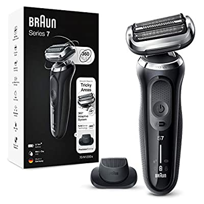 Braun Series 7 Electric Shaver for Men with Precision Beard Trimmer, Wet & Dry, Rechargeable, Cordless Foil Razor, Silver, 70-N1200s from Procter & Gamble