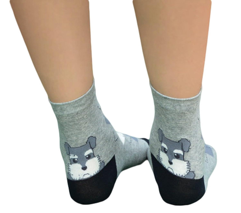 (ビグッド) Bigood 可愛い 犬柄 靴下 ソックス レディース 靴下 ソックス 暖かい 女性用 クルーソックス カジュアル 靴下