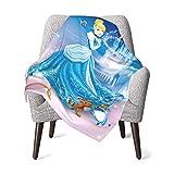 Ci-nder-Ella Baby Blanket Boys Soft Blanket Fleece Baby Girl Blanket Plush Toddler Baby Newborn Blanket for Nursery Stroller Crib Receiving Blanket Infant Unisex-Baby,One Size
