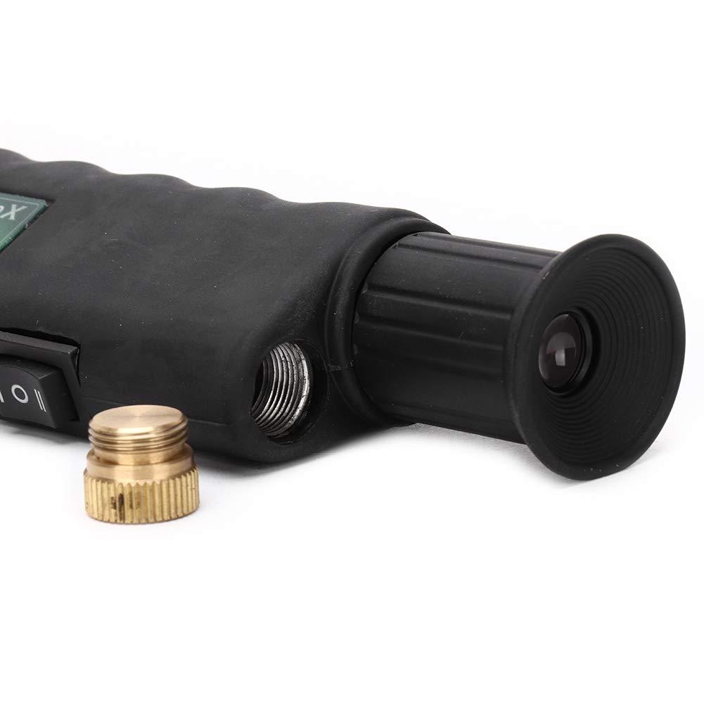 Microscopio de fibra de aumento 200X 400X de mano óptico para iluminación coaxial que incluye adaptadores de 2,5 mm y 1,25 mm para la industria