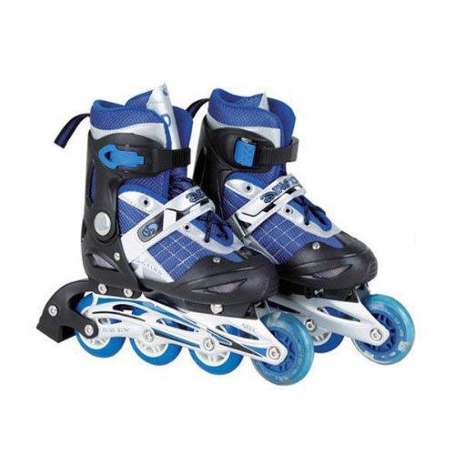 HuntGold Réglable patins à roues alignées chaussures blue pour les enfants(Taille: L)