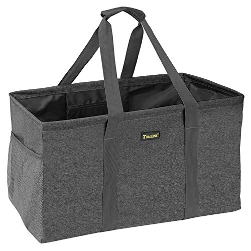 BALEINE Extra Large Utility Tote Bag for Pool Beach Laundry Storage, Winter Gray
