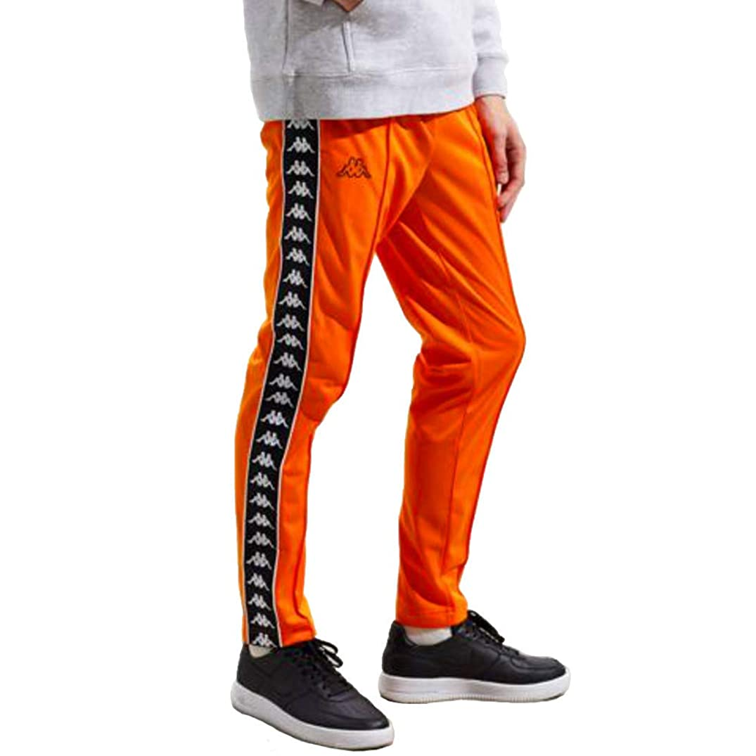 Kappa Banda Astoria Side Logo Slim Track Pants, Orange & Black ($70-Now $59)