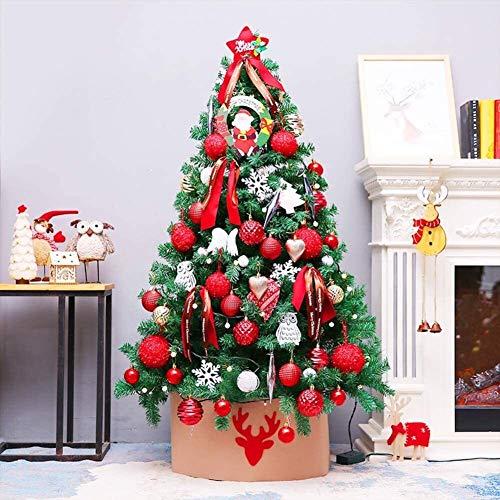 Árbol de Navidad Decoración de árbol de navidad artificial, con los ornamentos del árbol de Navidad del soporte del metal de primera calidad Spruce con bisagras for vacaciones de interior