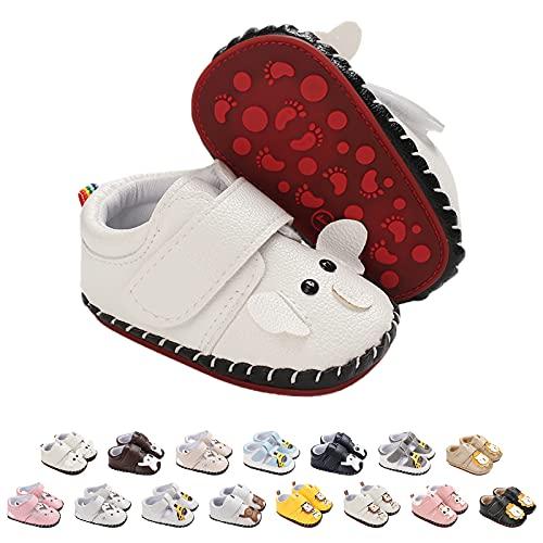 Baby Schuhe Lauflernschuhe Mädchen Jungen Lederpuschen Nette Karikatur Tier Krabbelschuhe Jungen Mädchen Baby Sneaker Mit Klettverschluss Rutschfest PU Lederschuhe Baby Hausschuhe, Gr.3