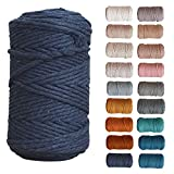 All for Knotting Recycled Single Strand Macrame Cord (Indigo, 5mm)