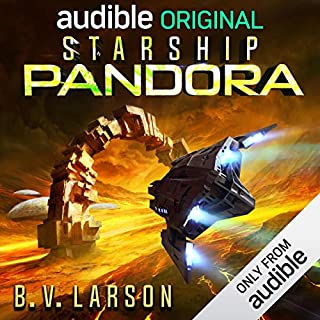 Starship Pandora     A Star Force Drama              Written by:                                                                                                                                 B. V. Larson                               Narrated by:                                                                                                                                 Scott Aiello,                                                                                        Jamie Jackson,                                                                                        Tim Gerard Reynolds,                   and others                 Length: 4 hrs and 23 mins     6 ratings     Overall 4.7