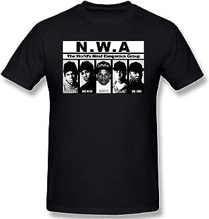 Donaldjchisholm Mens Funny Sarcastic 100% Cotton Short Sleeve NWA Straight Outta Compton Black T-Shirt