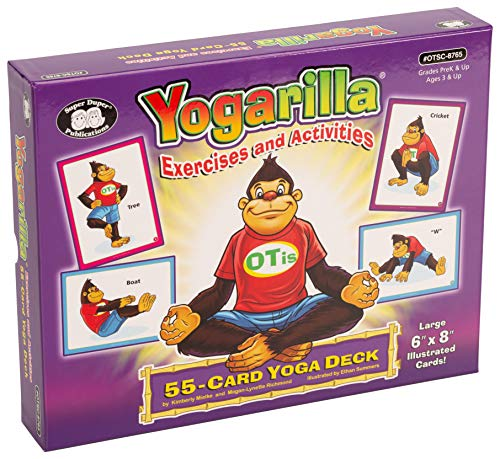 Super Duper Publications | Yogarilla Exercise and Activities Yoga Fun Deck | Occupational Therapy Flash Cards | Core Strength and Balance Training | Educational Learning Materials for Children