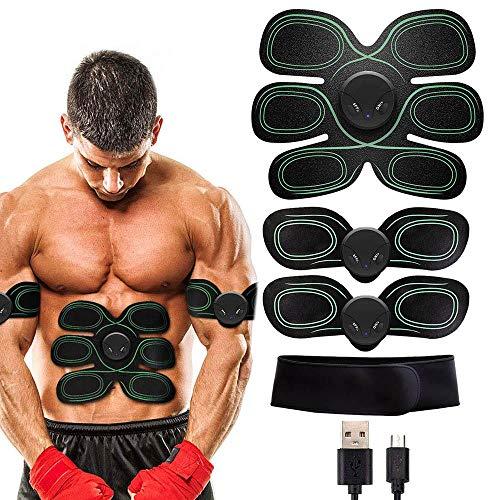 Electroestimulador Estimulador muscular EMS Entrenador de abdominales Cinturón abdominal USB recargable Gimnasio casero Músculos Toner Electroestimulador con cinturón de soporte Ejercicio En Casa