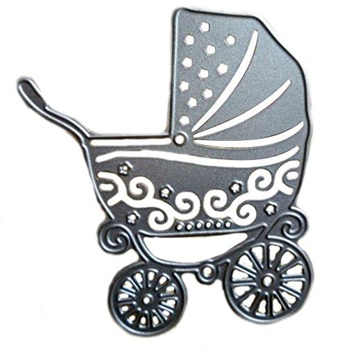Wiivilik DIY Carro de bebé del patrón de gofrado Troquel, Cuchilla Troqueles de Corte de la Plantilla para la Compra de Papel de Scrapbooking