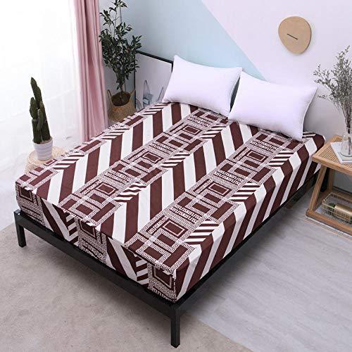 DSman Protector de colchón de Rizo algodón y Transpirable Impresión de sábanas a Prueba de Agua y a Prueba de Polvo-7_100cmX200cmX30cm