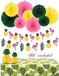 flamingo and pineapple decorations