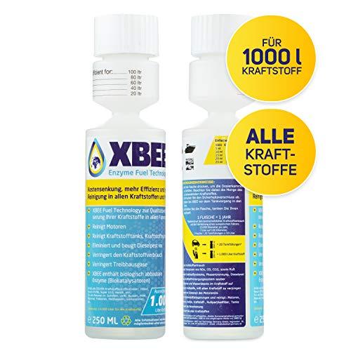XBEE ALL FOR ONE Additiv für Diesel, Benzin UVM. I nur 250ml je 1000l Kraftstoff I Dieselpest Schutz I Kraftstoffsystem- und Motorenreiniger