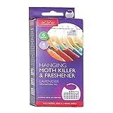 2x Acana 2675-1 Hanging Moth Killer and Lavender Freshener - White (Pack of 4)