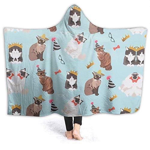 ujmki Manta de franela antipilling para gato, abrigo de forro polar de alta calidad, 50 60 pulgadas para adolescente