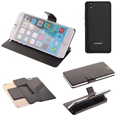 K-S-Trade Handy Schutz Hülle Für Mobistel Cynus E7 Flip Cover Handy Wallet Hülle Slim Bookstyle Schwarz
