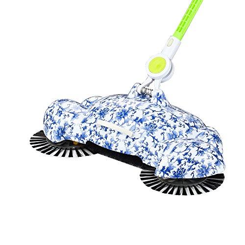Connected - robotstofzuiger compatibel & voor dierenharen - automatische stofzuiger robot met laadstation stofzuiger filter zuigrobot hondenharen 63x65x40CM blauw