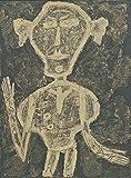 Jean Dubuffet Portrait of Henri Michaux c12229 A4 Canvas - Estirado, listo para colgar (12/8 inch)(31/20 cm) - Película Película Decoración de pared Arte Actor Actriz Regalo Anime Auto Cinema Room D
