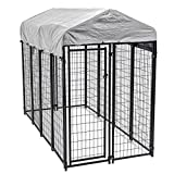 8'x4'x6' Outdoor Heavy Duty Playpen Dog Kennel w/Roof Water-Resistant Cover