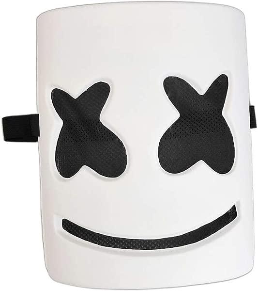 WHER DJ Marshmellow Mask Full Head Helmets Prop Kits For Halloween Easter Cosplay Bar Music Festival Part