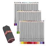 GHB Crayon de Couleur Adulte Professionnels Dessin Crayon Stylos 72 Couleurs Coloriage Crayon pour L'artiste Sketch Adulte...
