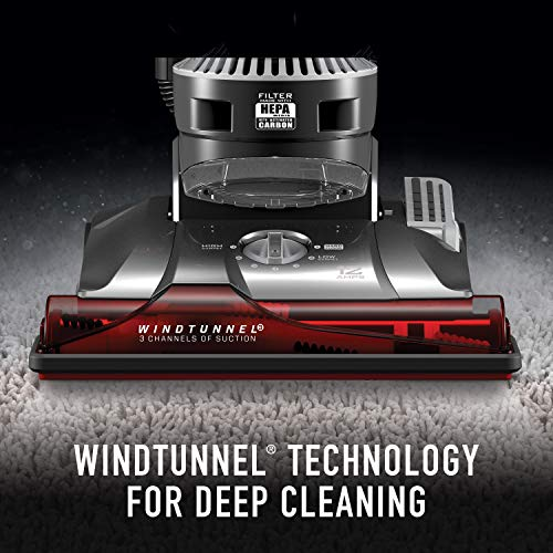 Hoover WindTunnel 3 Max Performance Upright Vacuum Cleaner, HEPA Media Filtration and Powerful Suction for Pet Hair, UH72625, Red