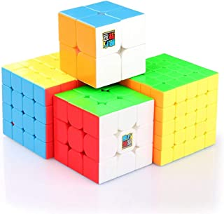 MF9301 Speed Magic Cube Set of 2x2 3x3 4x4 5x5 With Gift Box Pack