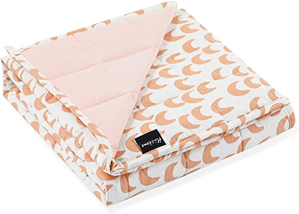 Hiseeme Small Weighted Blanket 5lbs For Kids And Toddler 41 X60 Enjoy The Family S Parent Child Time Washable Cotton Pink Moon