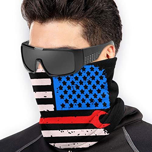Outdoor Neck Gaiter Ironworker Usa American Flag Bandanas Balaclava Versatile Headwear