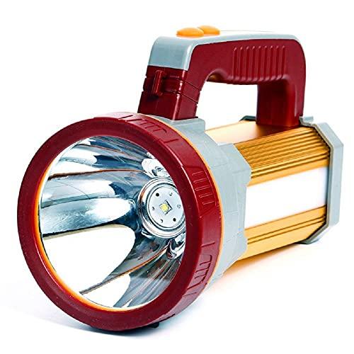Antorcha LED recargable multifunción (se puede usar como banco de energía) Linterna de alta potencia Súper brillante Linterna Linterna Foco mei