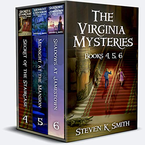 Page de couverture de The Virginia Mysteries Box Set 2: Secret of the Staircase, Midnight at the Mansion, Shadows at Jamestown