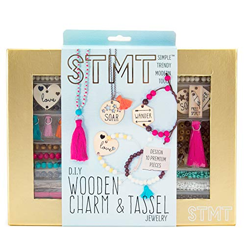 188-Piece STMT DIY Wooden Charm & Tassel Jewelry Art & Craft Kit $8.49 + Free S/H w/ Prime or FS on $25+