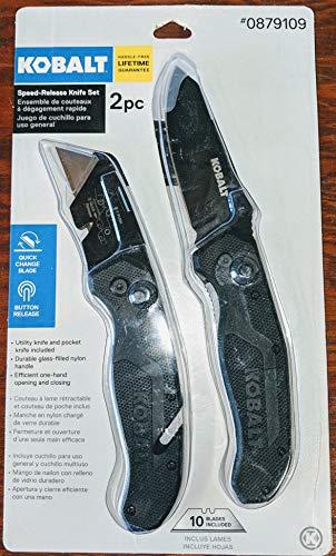 Kobalt 5-in 11-Blade Utility Knife Pocket Knife Set
