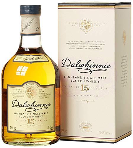 Dalwhinnie 15 anni Scotch Whisky Single Malt – Whisky Scozzese puro malto, dolce e delicato – Dal gusto morbido e aromatico, leggermente affumicato – In confezione regalo – 1 x 70 cl