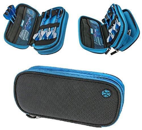 Harrows Z800 Darts Etui / Brieftasche, groß, Schwarz / Blau