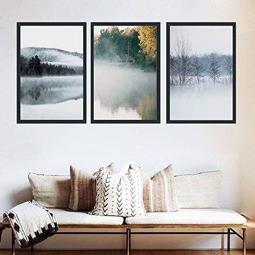 tzxdbh Nieuwe eenvoudige Chinese stijl bos muurschilderingen frameloze schilderij kern studie huisdecoratie muurschildering kern-in Schilderij & Kalligrafie van Groep HLS 13x18cm