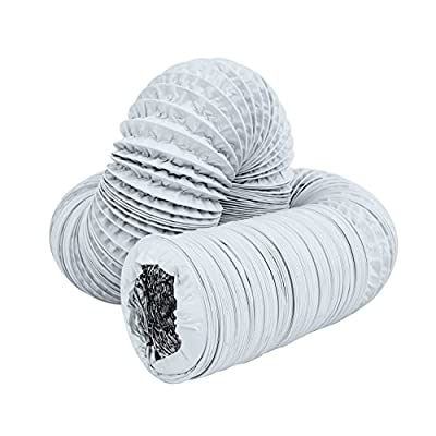 Hon&Guan Flexible Ducting HVAC Ventilation Air Hose For Grow Tents, Dryer Rooms,Kitchen