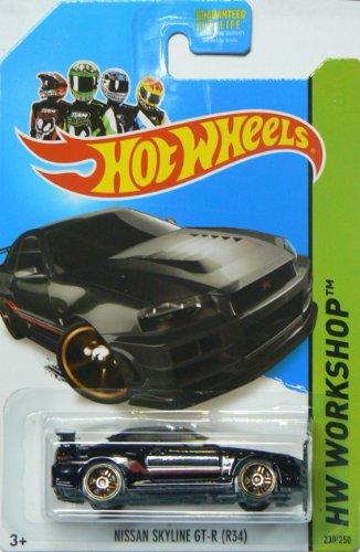 Hot Wheels Then and Now 2014 Hw Workshop Black Nissan Skyline Gt-R (R34) 230/250