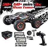 HOSHI Remote Control Car 4WD Monster Truck – RC Monster Truck 4x4, 1:10 Scale – Off Road All Terrain Waterproof RC Car – 3 Batteries, 2.4 Ghz, 30 mph Speed, Gift Idea for Adults, Boys, Girls