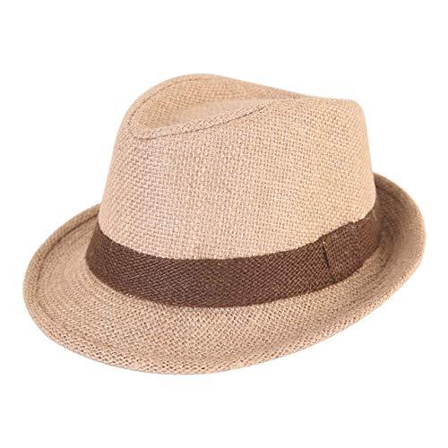 UKKD Sombrero De Paja Sombrero De Paja Bebé Primavera Verano Elegante Jazz Gorra Sunvisor Beach Sombreros Niños Al Aire Libre Gorras para Niños Niñas 1-3 Años