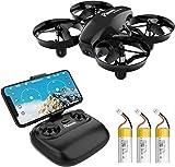 Potensic Mini Drone con Tre Batterie con Telecamera HD A20W WiFi...