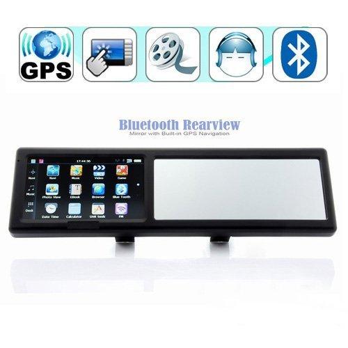 4,3 pollici Specchio retrovisore con Bluetooth vivavoce navigatore GPS incorporato di GPS di navigazione 4GB mappa Europa