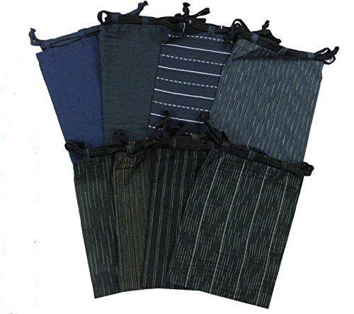 『[K sera sera] 浴衣 メンズ 3点セット ワンタッチ 帯 おしゃれ 涼しい 綿100%(下駄 巾着 付き)同色帯 ゆかた』の6枚目の画像