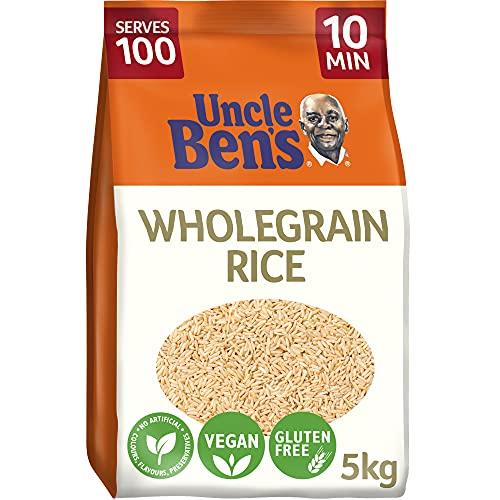 Uncle Bens Wholegrain Brown Bulk Rice 5 kg - 100 servings