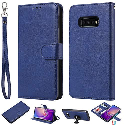 Capa carteira XYX para Galaxy S10e, 2 em 1 de couro PU com capa fina removível para celular Samsung Galaxy S10e 5,8 polegadas (azul)