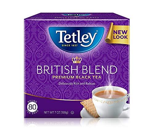 Tetley Black Tea, british Blend, 80 Tea Bags (Pack Of 12)